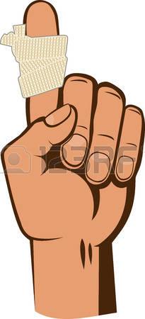 Bandaged Finger Clipart.