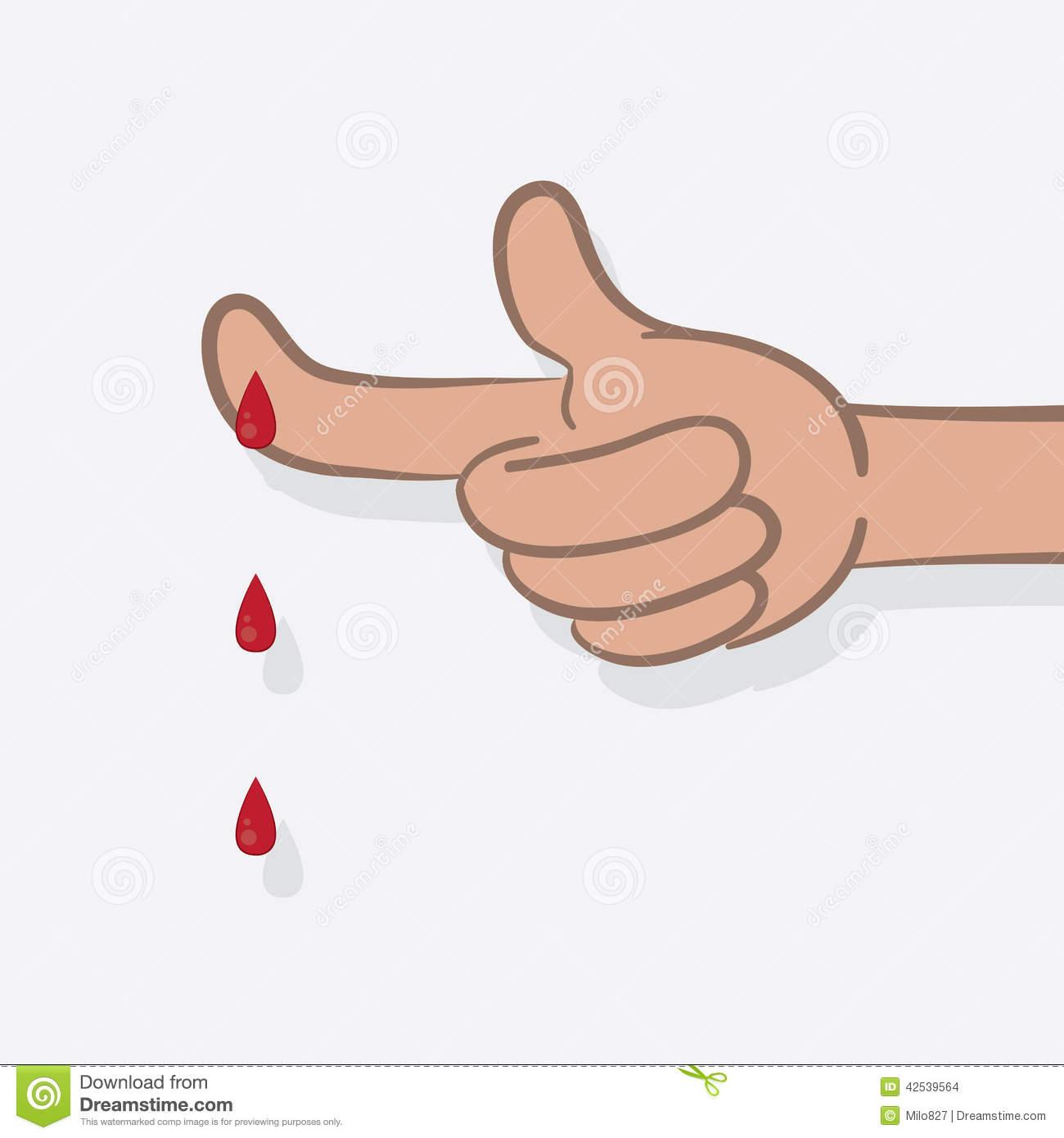 Bleeding Finger Clipart.