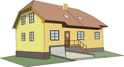 Koloniala hus ClipArt clipart, gratis clipart.