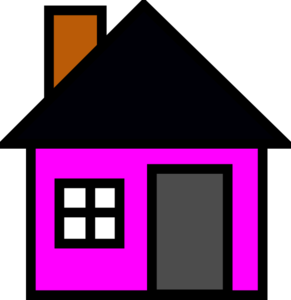 Pink House 4 Clip Art at Clker.com.