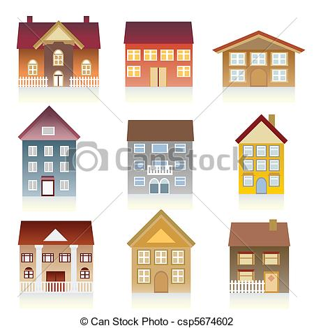 Vector Illustration of Various houses.