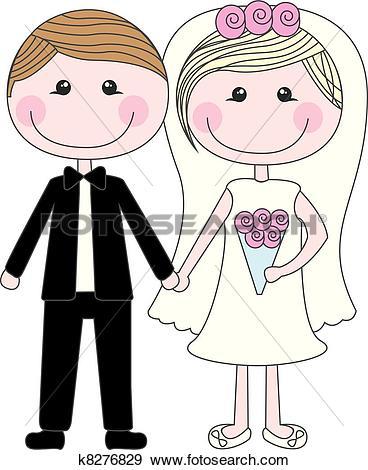 Clip Art of cute husbands k8276829.