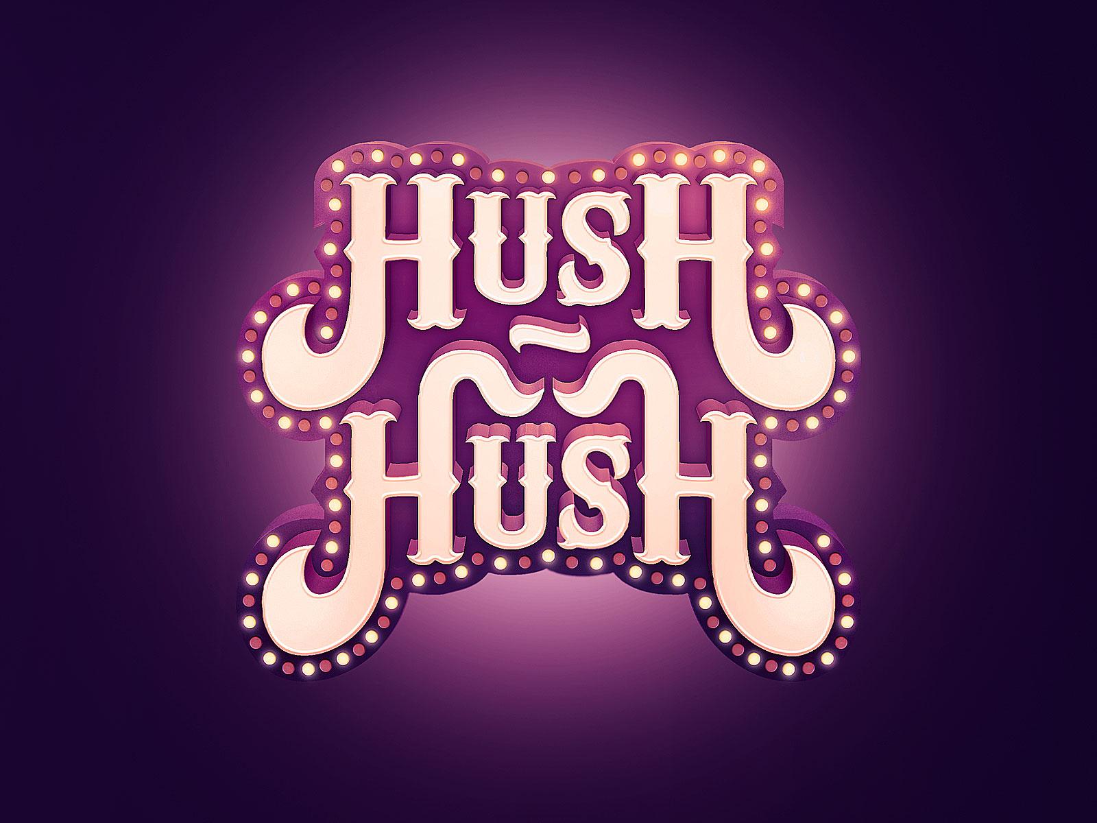 Hush Hush Logo by Jeffrey Dirkse on Dribbble.