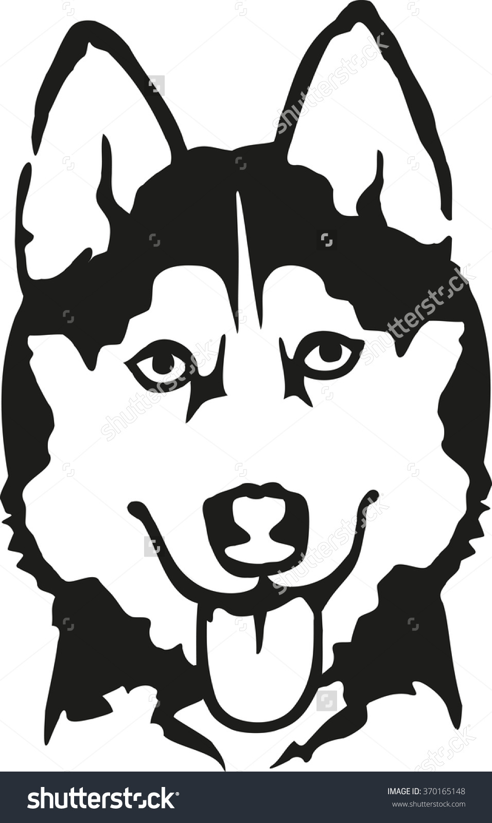 Husky Head Stock Vector 370165148.