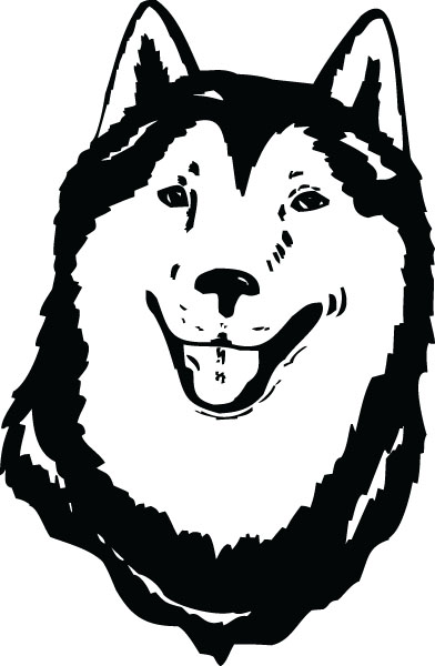 Husky Face Dog Breed Clip Art For Custom Pet Lovers Gifts.