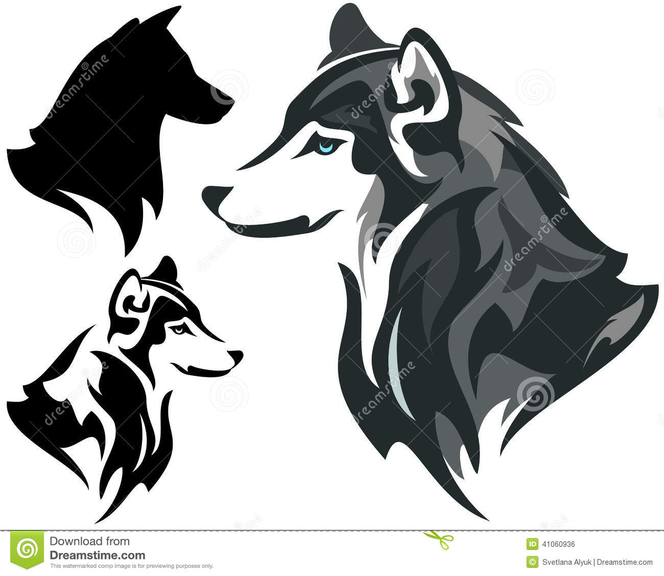 Husky Stock Illustrations.