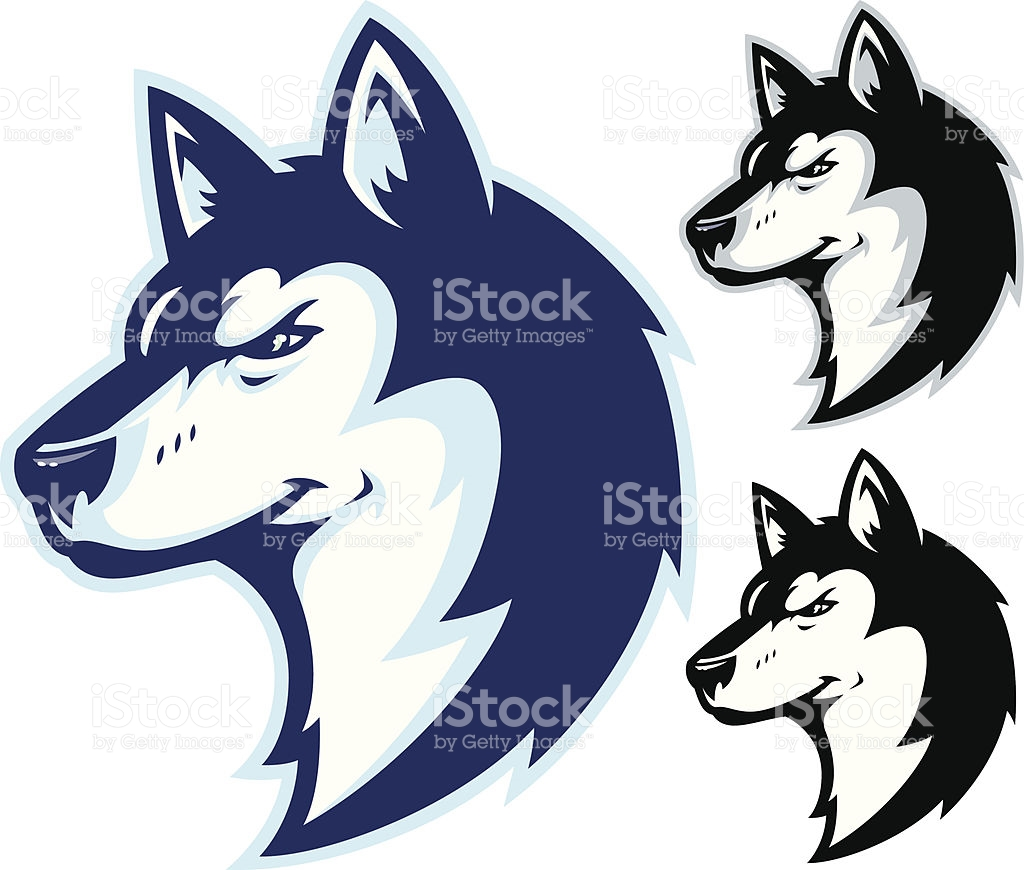 Siberian Husky Clip Art, Vector Images & Illustrations.
