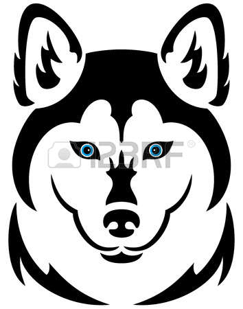 3,699 Husky Dog Stock Vector Illustration And Royalty Free Husky.