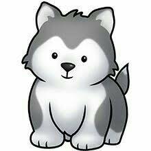 Image result for husky dog clipart.