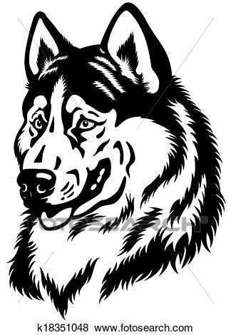 Husky head clipart 8 » Clipart Portal.
