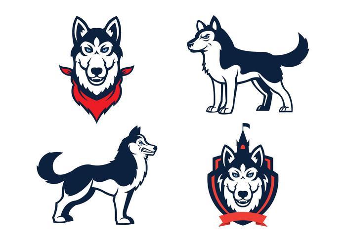 Huskies Mascot Vector.
