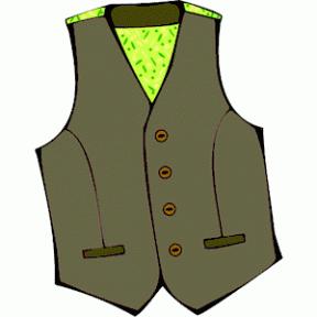 Husky With Safety Vest Clipart.