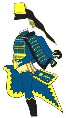 Blå Hussars.