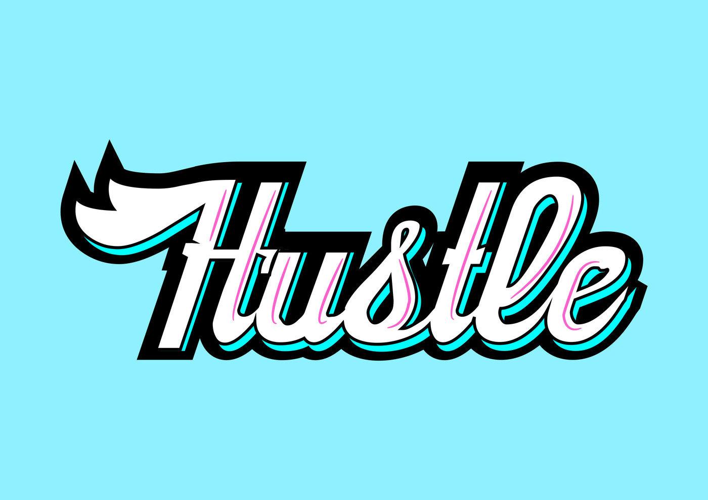 Hustle Word Art Logo by Joel Jose at Coroflot.com.