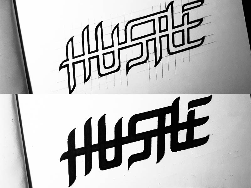 Hustle Logo by Rae Gerard Aquino on Dribbble.