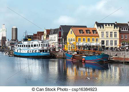 Stock Photo of Husums beautiful port.