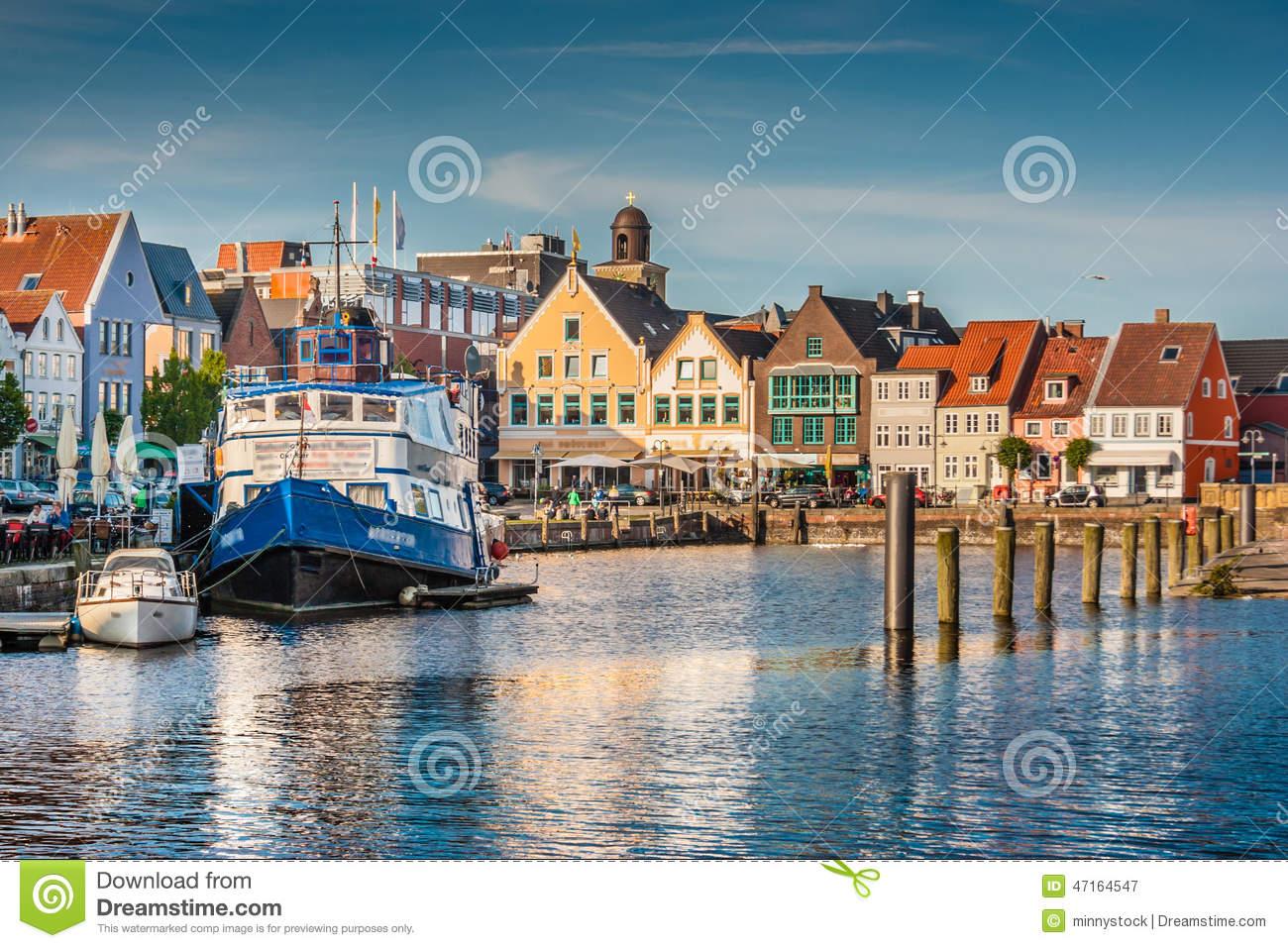 Town Of Husum, Nordfriesland, Schleswig.