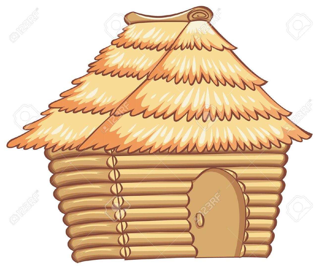 Village hut clipart.