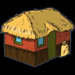 Tiki Hut Clipart.