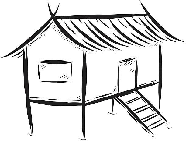 Nipa hut clipart black and white 1 » Clipart Station.