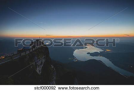 "Stock Photo of ""Austria, Salzkammergut, Schafberg, Mountain hut."