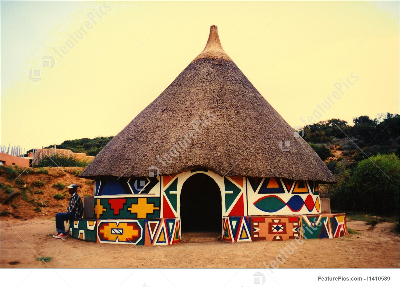 African Hut Stock Picture I1410589 at FeaturePics.
