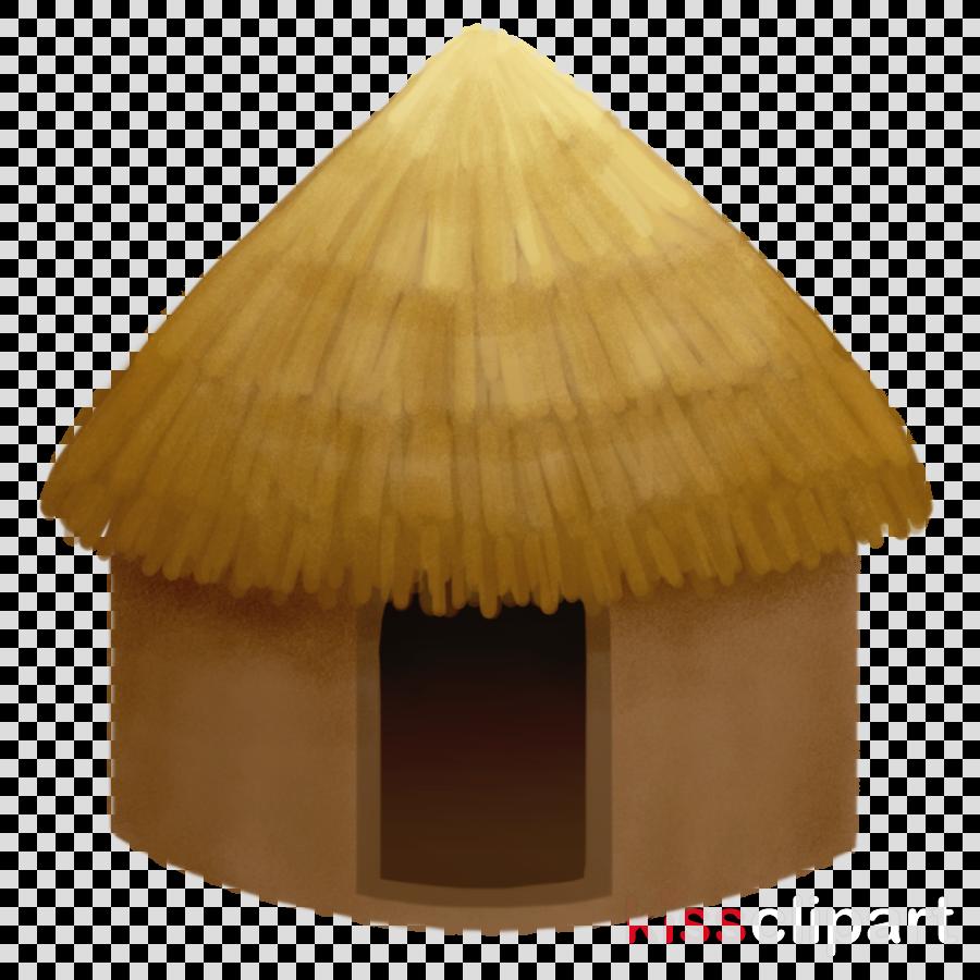 hut roof beige clipart.