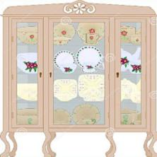Free China Hutch Clipart.