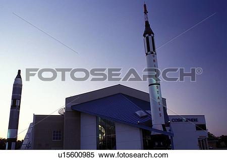 Stock Image of space museum, Hutchinson, KS, Kansas, Kansas.