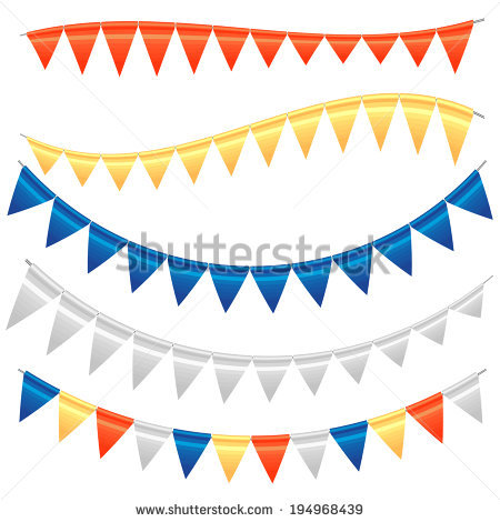 Vector Bunting Stock.