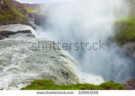 Iceland Gullfoss Stock Photos, Royalty.