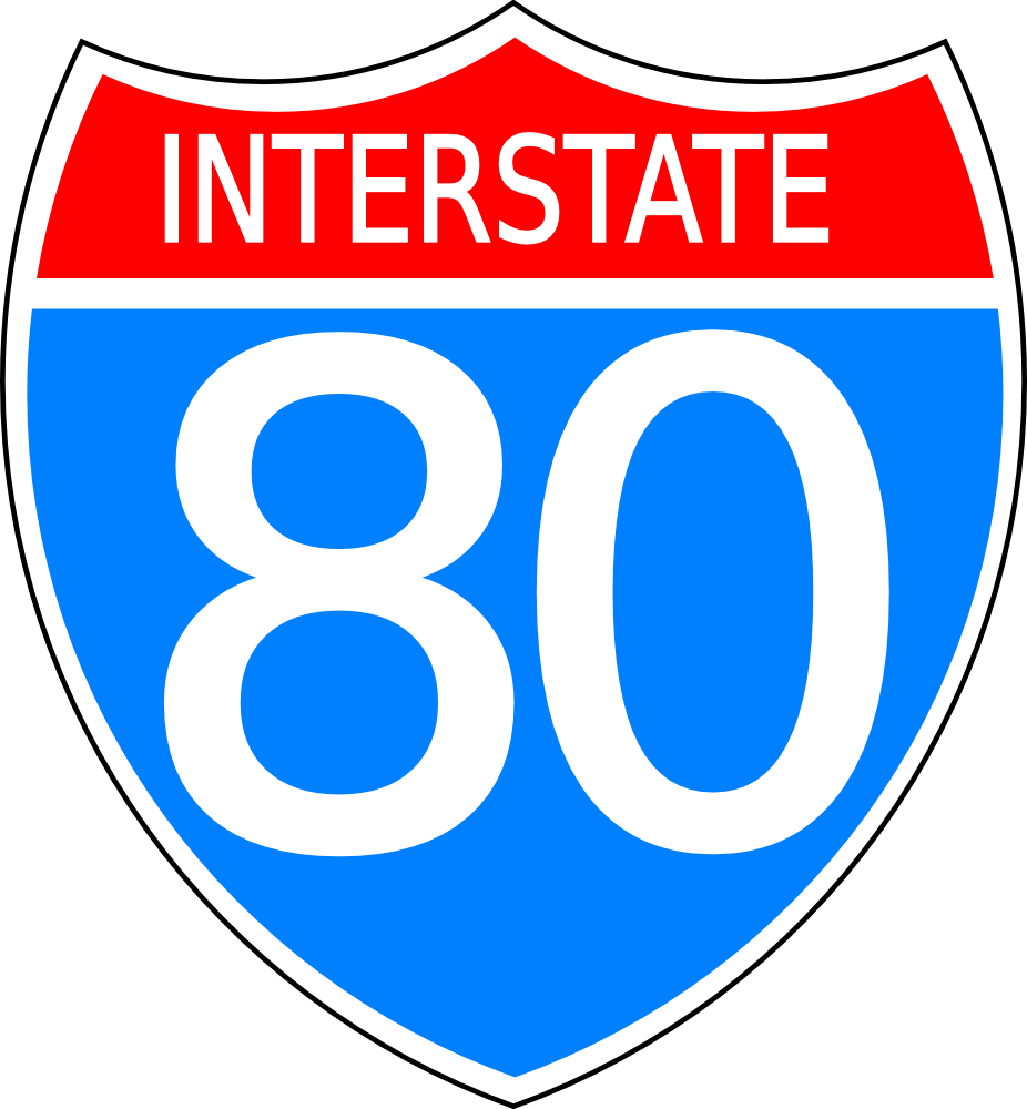 Clipart Interstate Highway Sign.