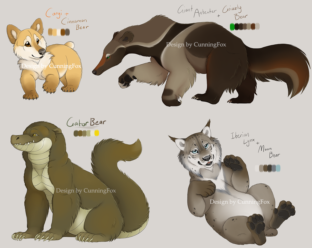 Bear hybrid characters (ENDED) by CunningFox on DeviantArt.