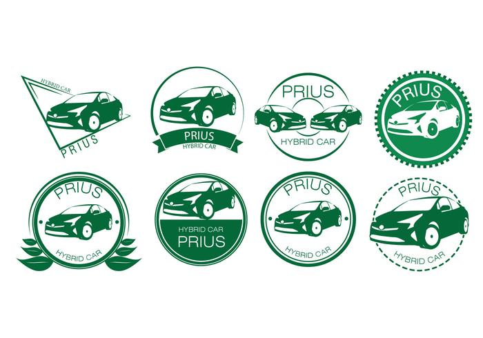 Free Hybrid Car Badges Vector.