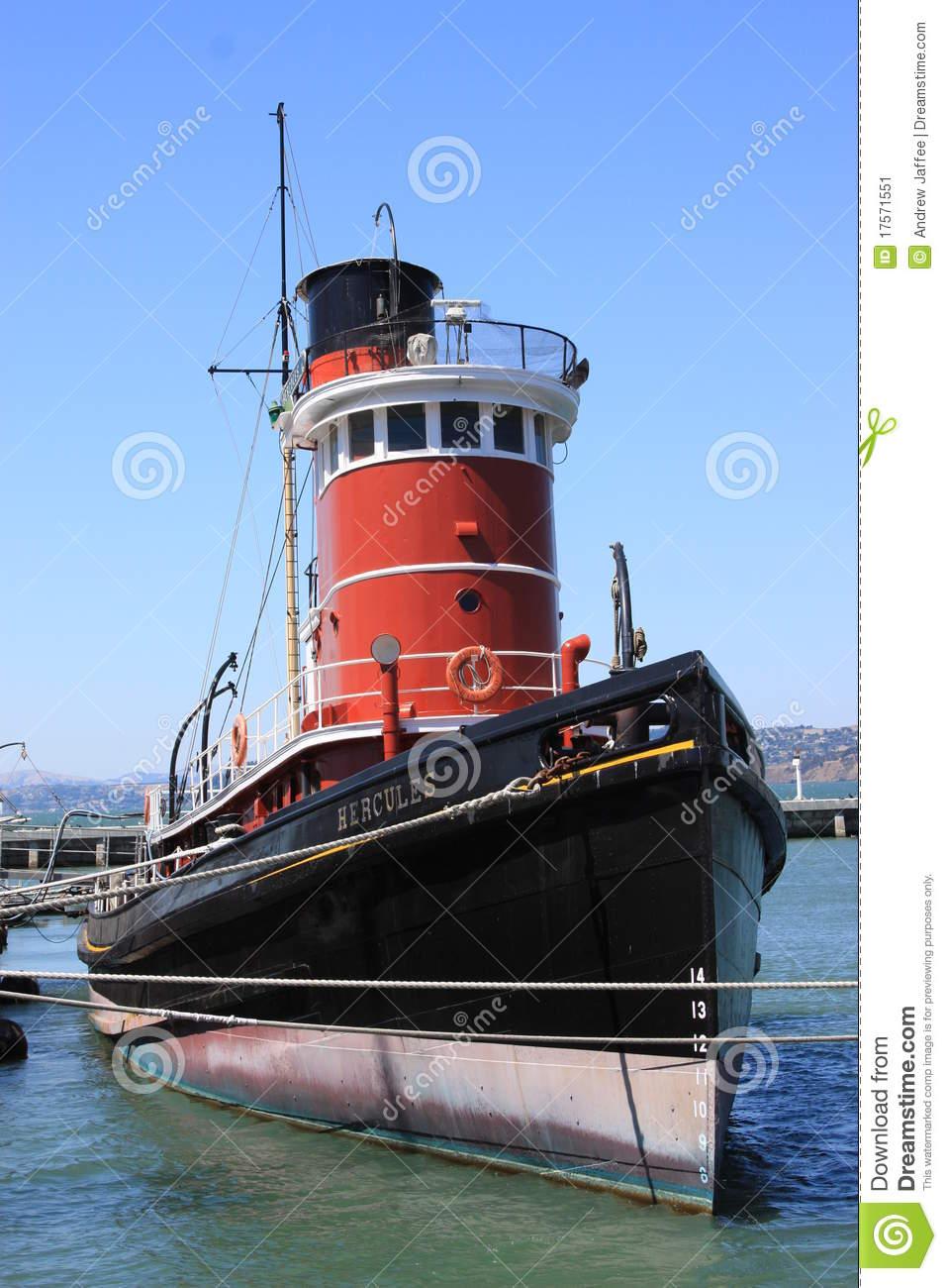 Hercules Tugboat Hyde Street Pier San Francisco Editorial Photo.