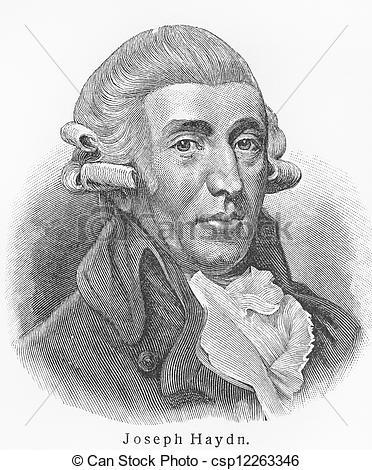 Stock Photo of Joseph Haydn.
