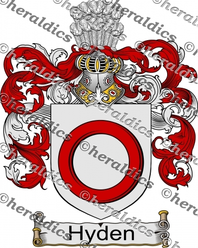 Hyden Coat of Arms Hyden Family Crest Instant Download.