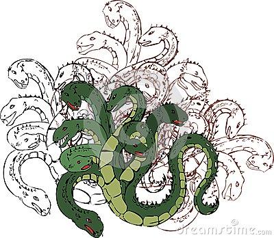 Hydra clipart #6