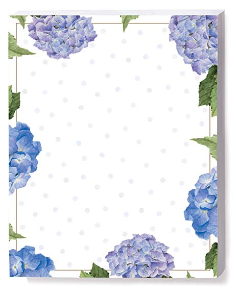 Amazon.com : Hydrangeas and Dots Border Papers, 8.5 x 11.
