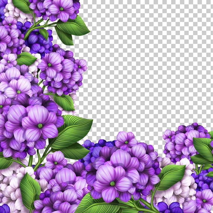 Hydrangea Flower Photography , Beautiful purple border.