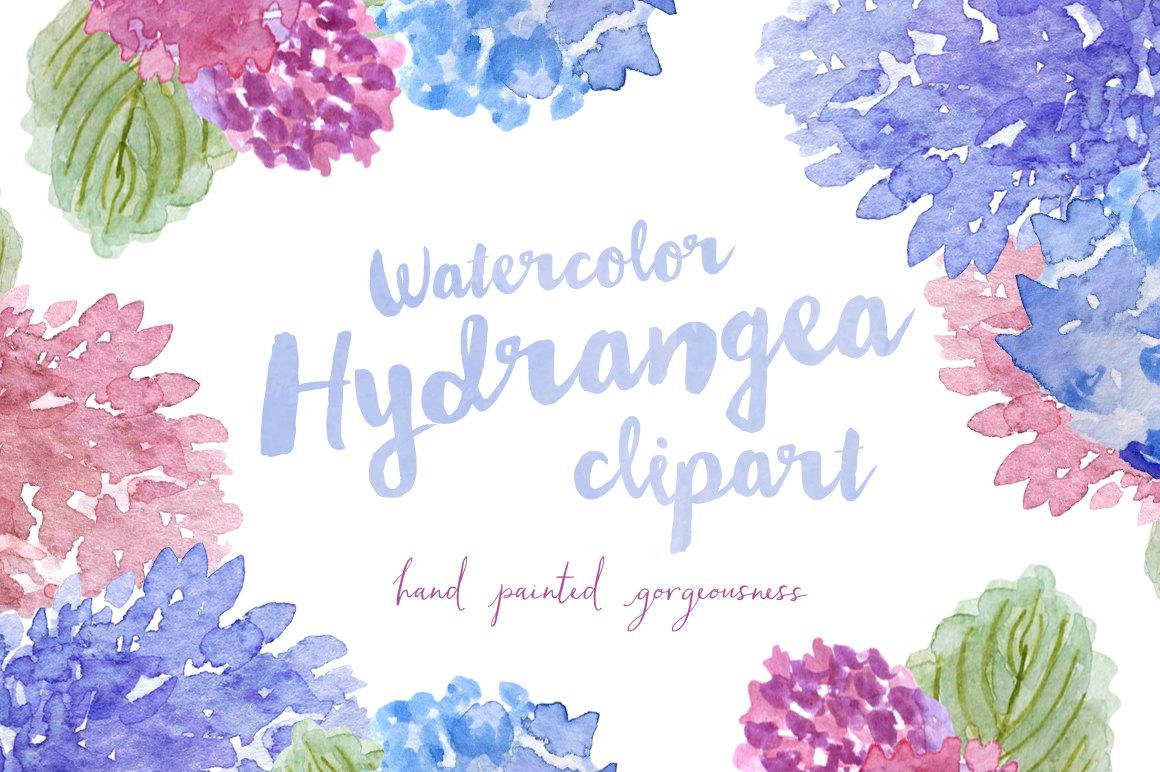 Hydrangea clip art.