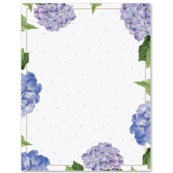 Hydrangeas and Dots Border Papers.