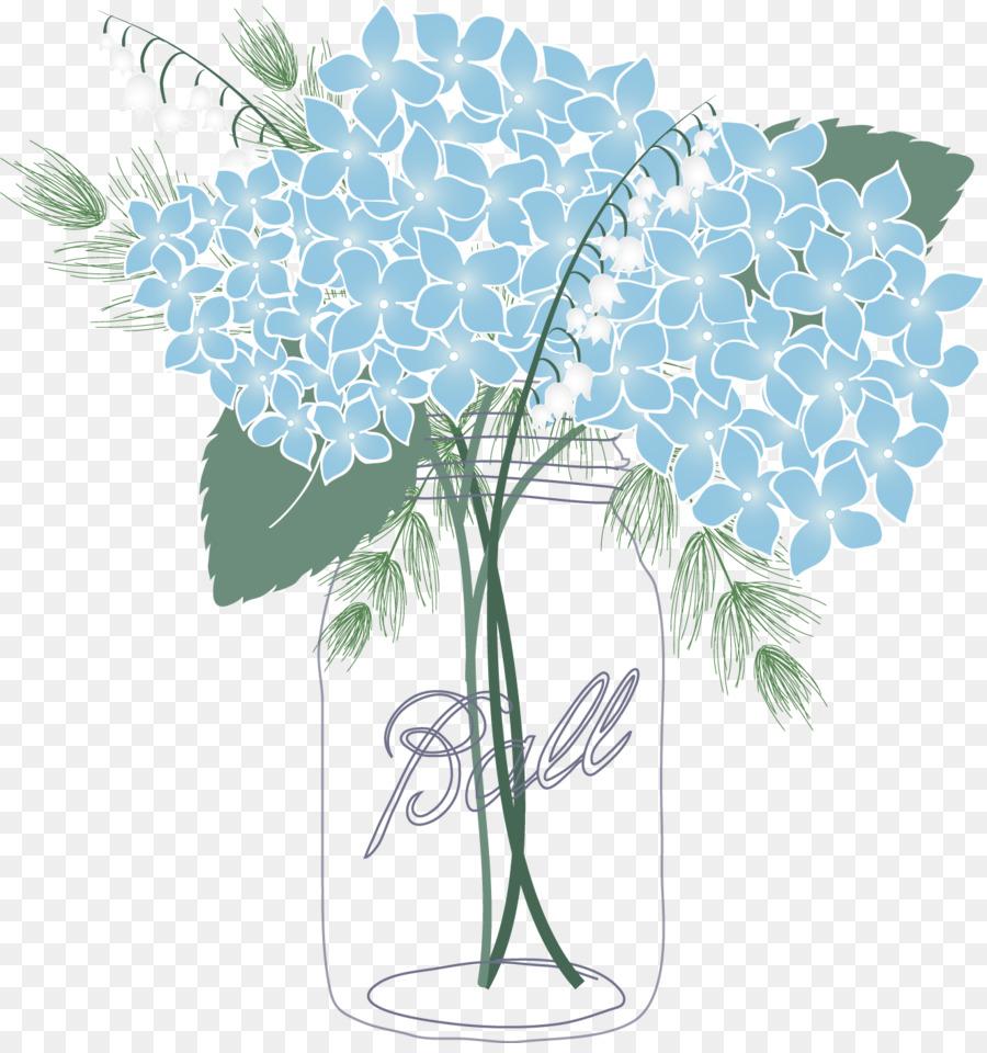 French hydrangea Mason jar Oakleaf hydrangea Flower Clip art.