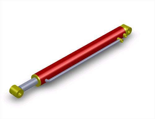 Hydraulic cylinder clipart.