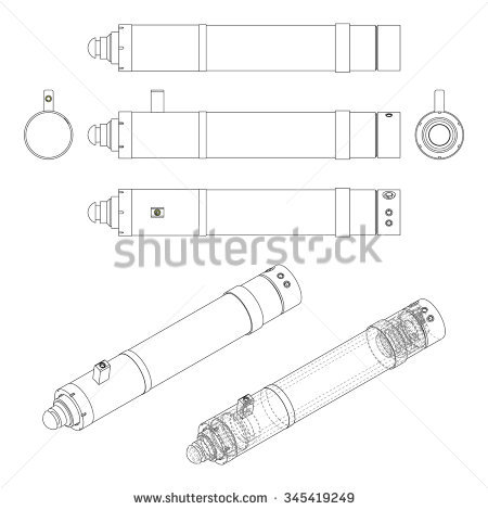 Hydraulic Cylinder Stock Photos, Royalty.