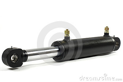 Hydraulic Cylinder Stock Photo.