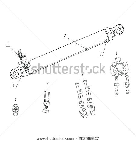 "hydraulic Cylinder"" Stock Photos, Royalty."