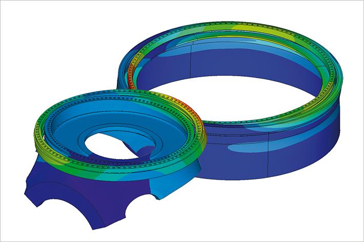 Engineering partners for large diameter bearings.
