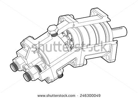 Hydraulic clipart.