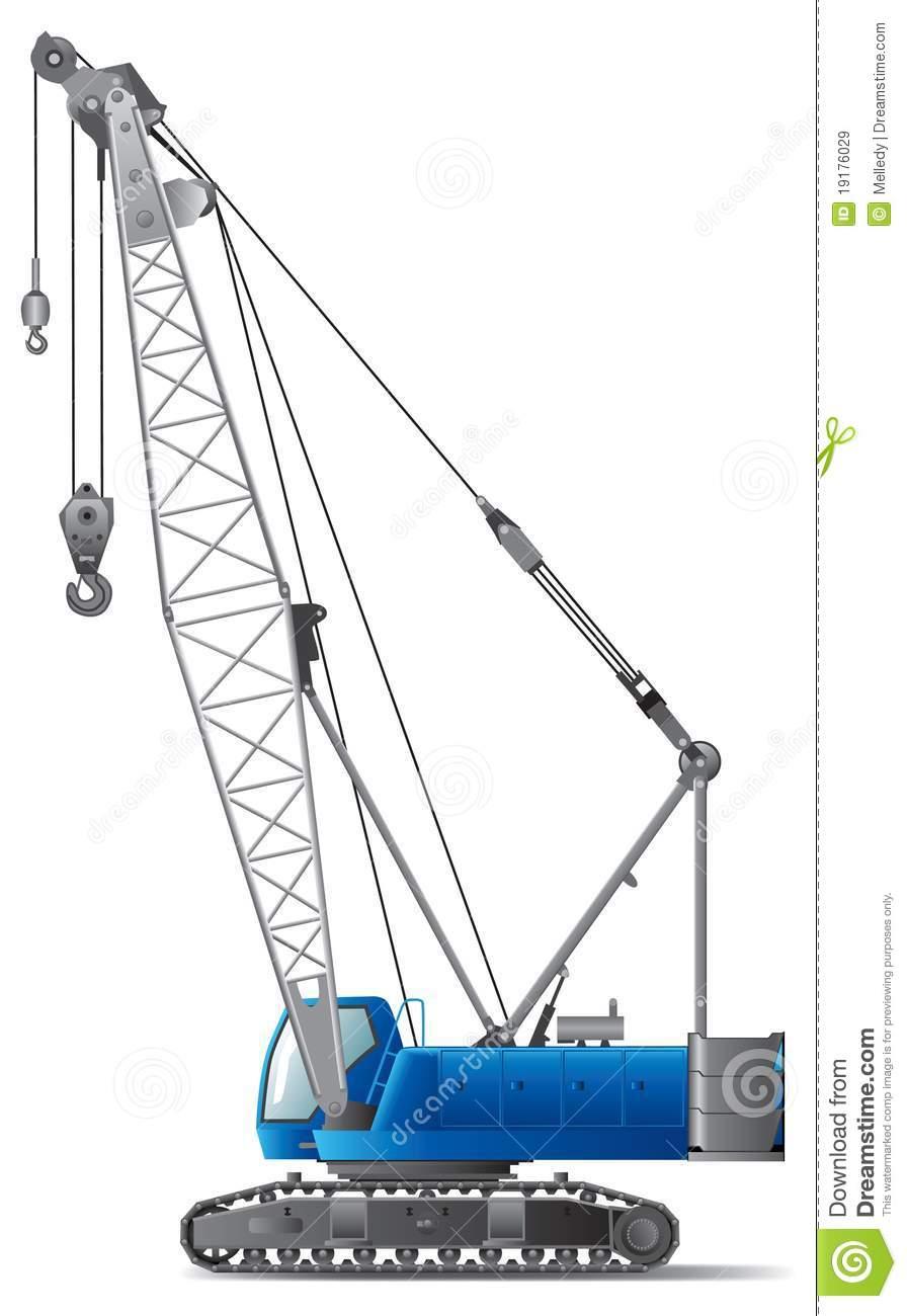 Hydraulic Crane Clipart.